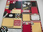 Disney 4 Pages 12x12 Handmade premade scrapbook layouts combined shipping