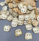 FREE 100X Lovely cat 2 Holes Sewing Scrapbooking Crafts Wooden Buttons 18mm