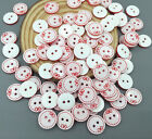 FREE DIY 100X Resin buttons Bow Round Fit Sewing Scrapbooking decoration 13mm