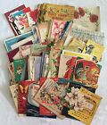 Lot 77 Used Vintage 50s  70s Greeting Cards for Scrapbooking Crafts Cartoons