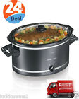 Slow Cooker Crock Pot 8 Quart Large Oval Cooking Manual Electric Crockpot