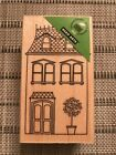 New HOUSE WITH PLANT Rubber Stamp Hero Arts G5430 Home PLEASE READ DESCRIPTION