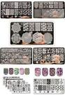 Nail Art Stamping Stamper Kit With Image Plate Manicure Tool Set Polish Finish