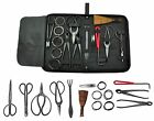 Bonsai Tool Kit Professional Gardening Set 10pc Carbon Steel Shears Cutter Wires