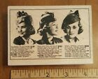 Hero Arts Rubber Stamp Woman Hat Ad 1940s WWII Era