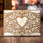 Invitations Cards Sets Wishmade Gold 50 Pcs with Envelopes and White Paper Kits