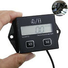 Inductive Hour Meter Digital Tachometer LCD Moto 2 4 Stroke Engine Spark Plugs