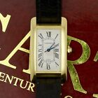 CARTIER TANK AMERICAINE 18K YELLOW GOLD WATCH 1 AUTOMATIC 725 23MM