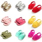 Summer 0 18M Baby Girl Tassle Soft Sandal Anti Slip Leather Crib Shoes Prewalker