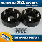 Black 4x100 Billet Wheel Spacers Adapters 2pc 2 inch fits Honda Toyota cb 4 lug