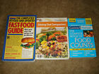 Lot 3 Books Weight Watchers Dining Out Companion Fast Food Guide Food Counts