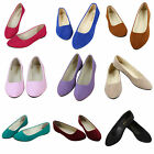 WOMENS SLIP ON FLAT PUMPS LADIES BALLET BALLERINA DOLLY BRIDAL SHOES WORK COURT