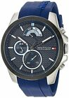 Tommy Hilfiger Original 1791350 Men's Cool Sport Blue Silicone Watch 46mm