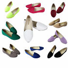 Womens Ballerina Ballet Dolly Pumps Ladies Flat Loafers Slip On Boat Shoes Size