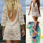 Women Ladies Bikini Cover Up Bathing Suit Lace Crochet Swimwear Beach Dress