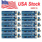 10pcs PCI E 1x to 16x Powered USB 30 Extender Riser Adapter Card for Bitcoin T