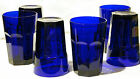 Beautiful Vintage Set (6) LIBBEY ~COBALT BLUE GIBRALTER~ Glass Tumblers EX COND!