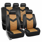 Synthetic Leather Seat Covers Car Suv Auto W Steering Wheel Belt Pads 6 Colors
