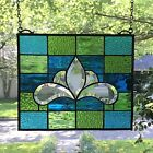 Victorian Style Stained Glass Window Beveled Panel Suncatcher 10x12