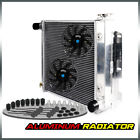 Aluminum Radiator For 87 95 Jeep Wrangler TJ YJ V8 Conversion 97 02 + 2  Fan