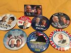 8 John McCain pins buttons some with Palin 2008