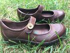 Montana Artisan Crafted Womens Shoes Brown Leather Mary Janes Size 65 M Euc