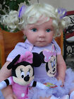 Reborn 22 Toddler baby girl doll Emily wMinnie Mouse LOOK 2 wks