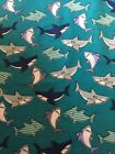 Snuggle Flannel Fabric Shark Sold BTY