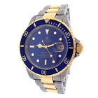 Rolex Submariner 16613 Stainless Steel 18k Yellow Gold Oyster Automatic Blue Men