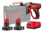Milwaukee M12H-402C 12v Sds Rotary Hammer Drill 2 x 4.0ah Batteries Charger Case