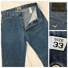 Vintage Armani Jeans 33 Button Fly Made in Italy Blue Lightweight Denim Relaxed
