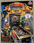 Autographed - Medieval Madness Limited Edition Remake Pinball Flyer! Gold Trim!