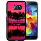 PERSONALIZED RUBBER CASE FOR SAMSUNG S8 S7 S6 S5 EDGE PLUS HOT PINK SUNSET BEACH
