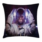 Space Cat Throw Pillow Case Galaxy Star Supernova Square Cushion Cover 18 Inches