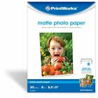 Printworks Matte Photo Paper Double Sided 8 Mil Inkjet 30 Sheets 85 x 11
