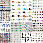 5/10/20/30PC Wholesale Mixed Lots Jewelry Crystal Stainless Steel Women's Rings