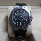 Bvlgari Diagono Scuba Stainless Steel Rubber Automatic Black Men's Watch
