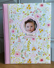 NEW CR Gibson Sweet As Can Be Floral Baby Girl Memory Keepsake Book