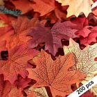 Fall Home Decor 200pcs Artificial Autumn Maple Leaves Assorted Colors Halloween
