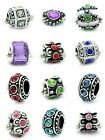 Pandora Charms Style Ten Assorted Crystal Rhinestone Bead Charm Spacers new