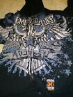xtreme couture MENS dbl sided graphic zip front hoody eagle great condition