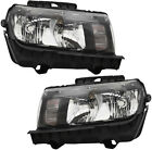 Headlights Headlight Assembly w Bulb Pair Set for 14 15 2014 2015 Chevy Camaro