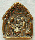 Miniature Bronze Nativity Scene with Star Germany