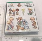 Stampendous Precious Moments NATIVITY Holiday Christmas Religious Rubber Stamps