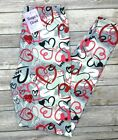 Heart Love Print Leggings Pink Red Hearts SOFT One Size OS