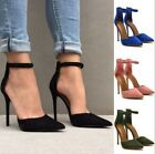 Women Laides Pointed Toe Stiletto High Heel Sandals Casual Party Pump Shoes Size