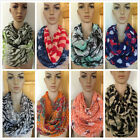 DY Fashion Assorted Styles Colors Light Weight Circle Loop Infinity Scarf Wrap