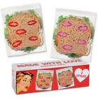 Made With Love Sandwich Bags Valnetines Kiss Love Lunch Lipstick Plastic Kisses