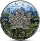 2017 1 Oz Silver CANADA MAPLE LEAF ANTIQUE FINISH Coin W Coa and Blister