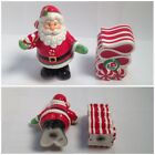 Fitz & Floyd 2008 Peppermint Santa Salt & Pepper Shaker Set